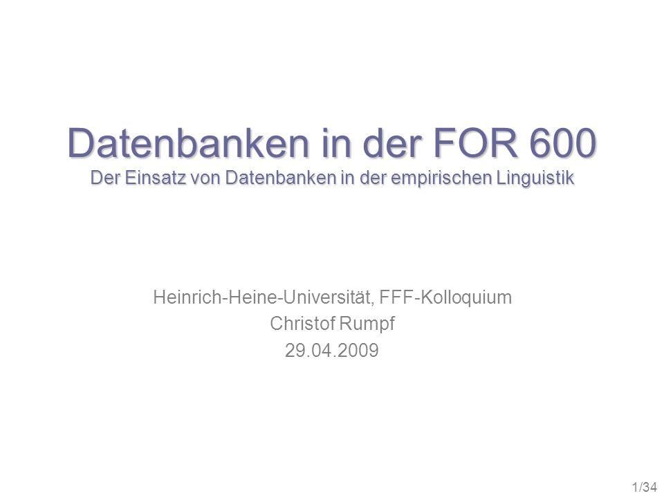 Heinrich-Heine-Universität, FFF-Kolloquium Christof Rumpf 29.04.2009