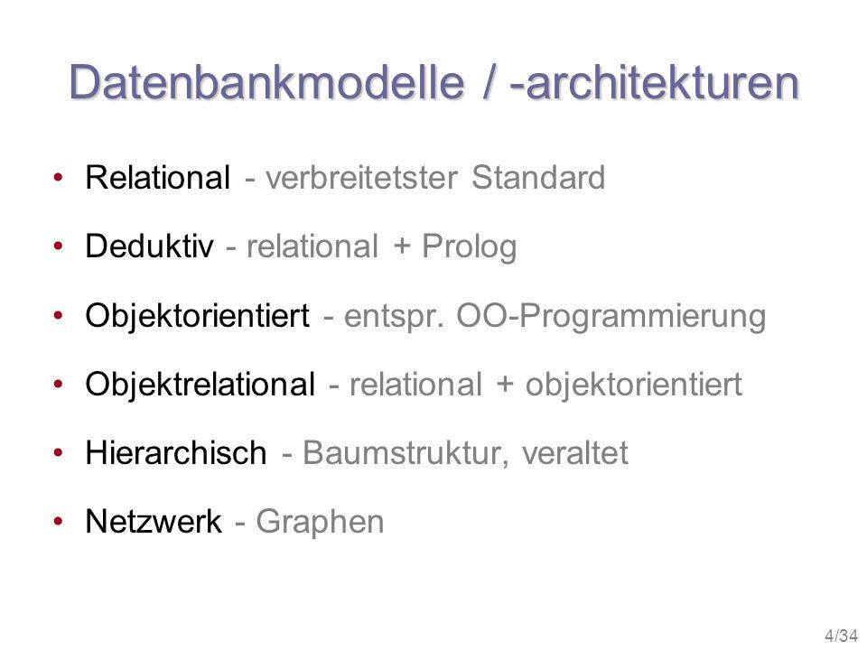 Datenbankmodelle / -architekturen