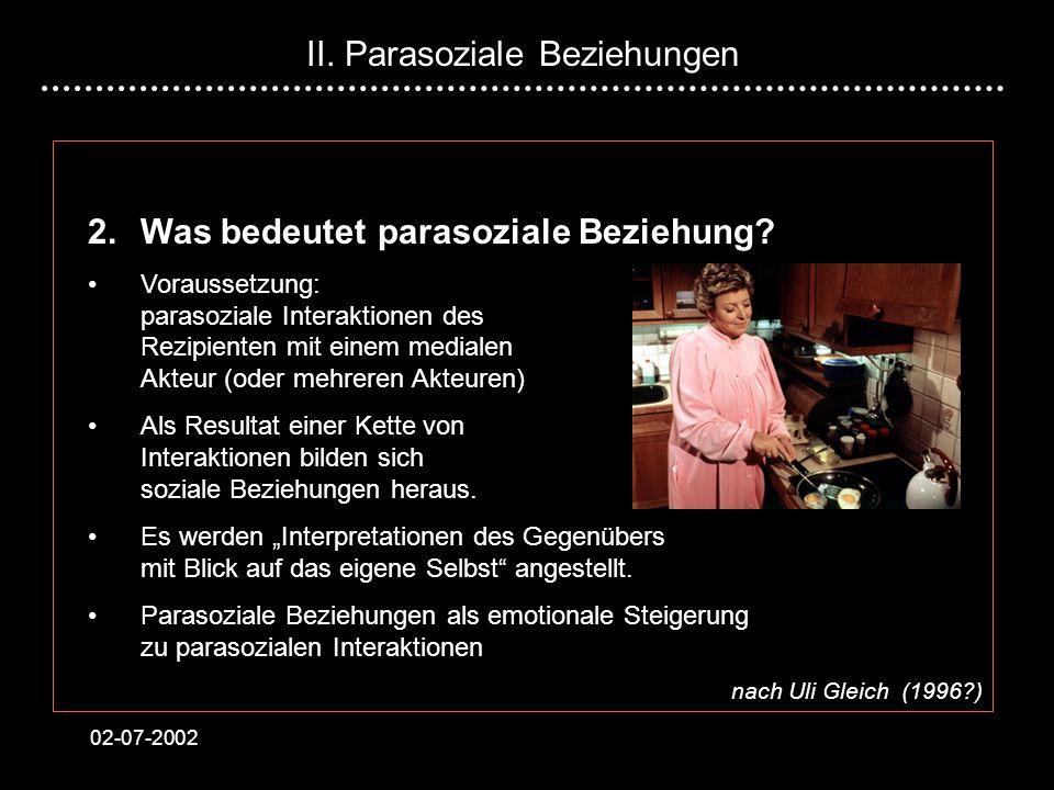 II. Parasoziale Beziehungen