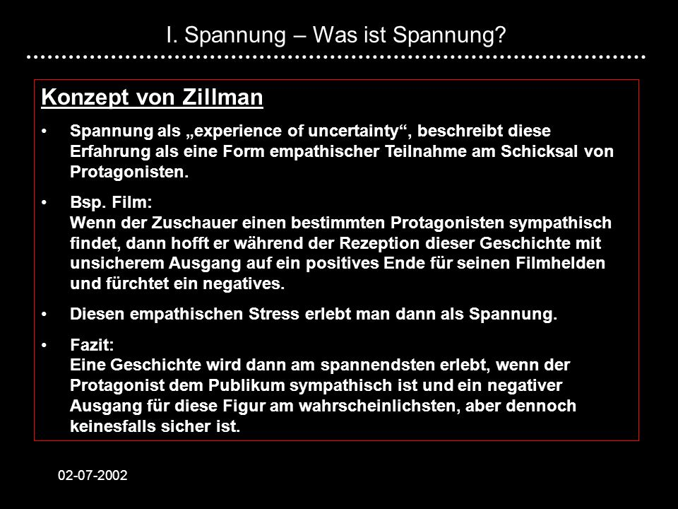 I. Spannung – Was ist Spannung
