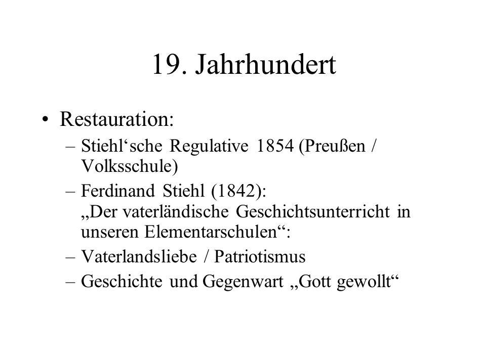 19. Jahrhundert Restauration: