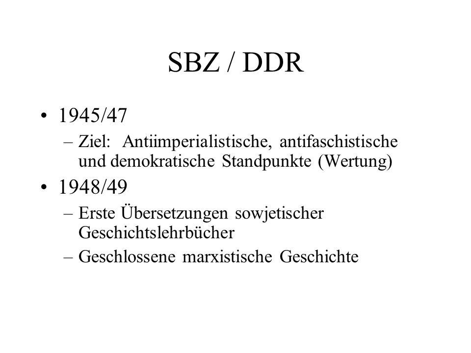 SBZ / DDR 1945/47. Ziel: Antiimperialistische, antifaschistische und demokratische Standpunkte (Wertung)