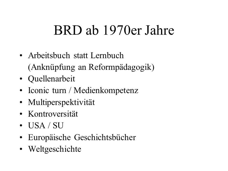 BRD ab 1970er Jahre Arbeitsbuch statt Lernbuch