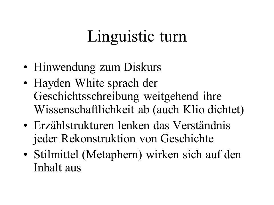 Linguistic turn Hinwendung zum Diskurs