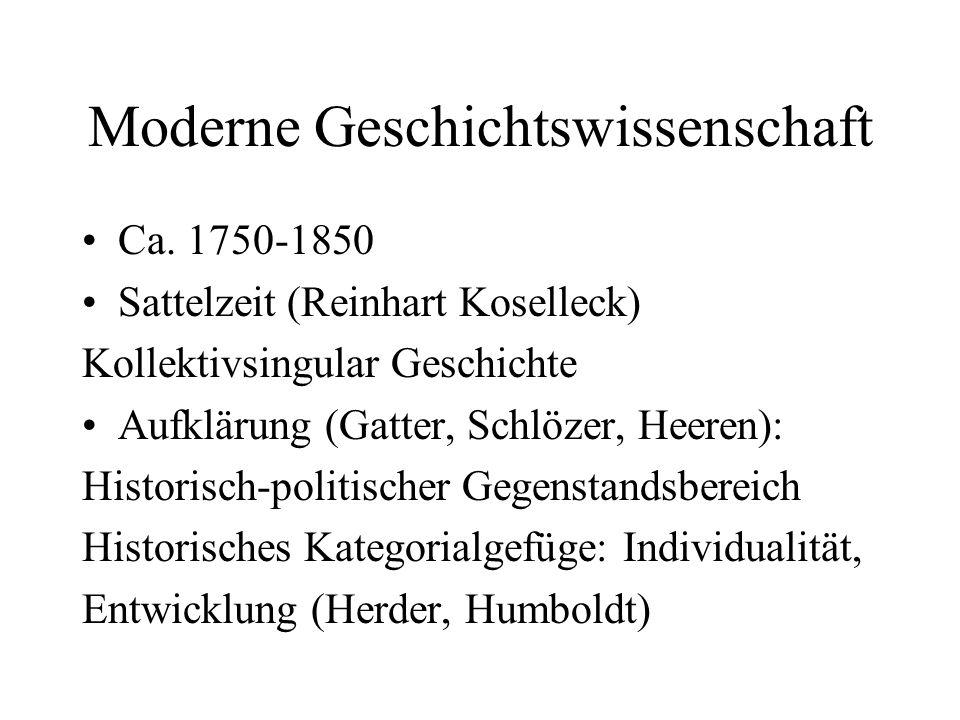 Moderne Geschichtswissenschaft
