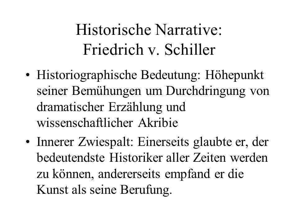 Historische Narrative: Friedrich v. Schiller