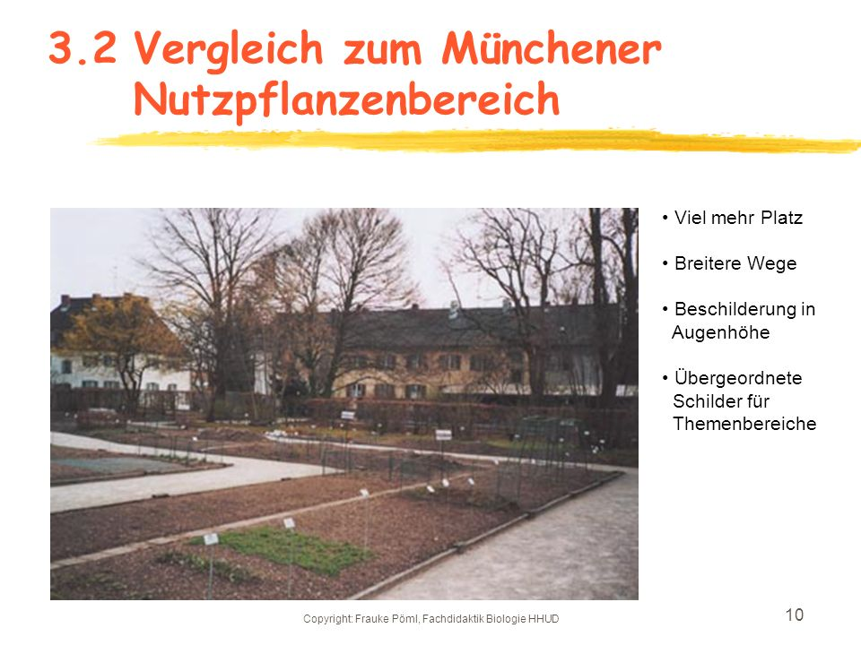 3.2 Vergleich zum Münchener Nutzpflanzenbereich
