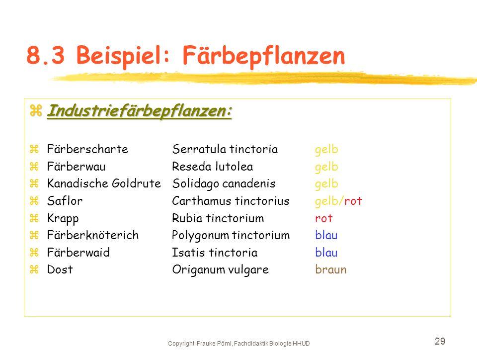 8.3 Beispiel: Färbepflanzen