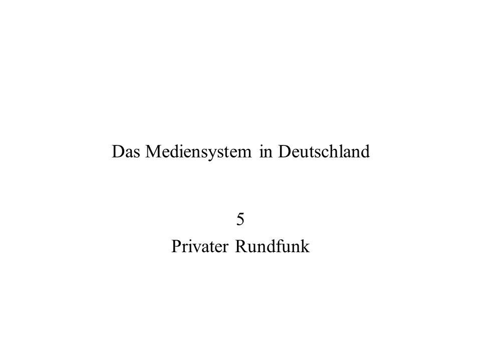 Das Mediensystem in Deutschland