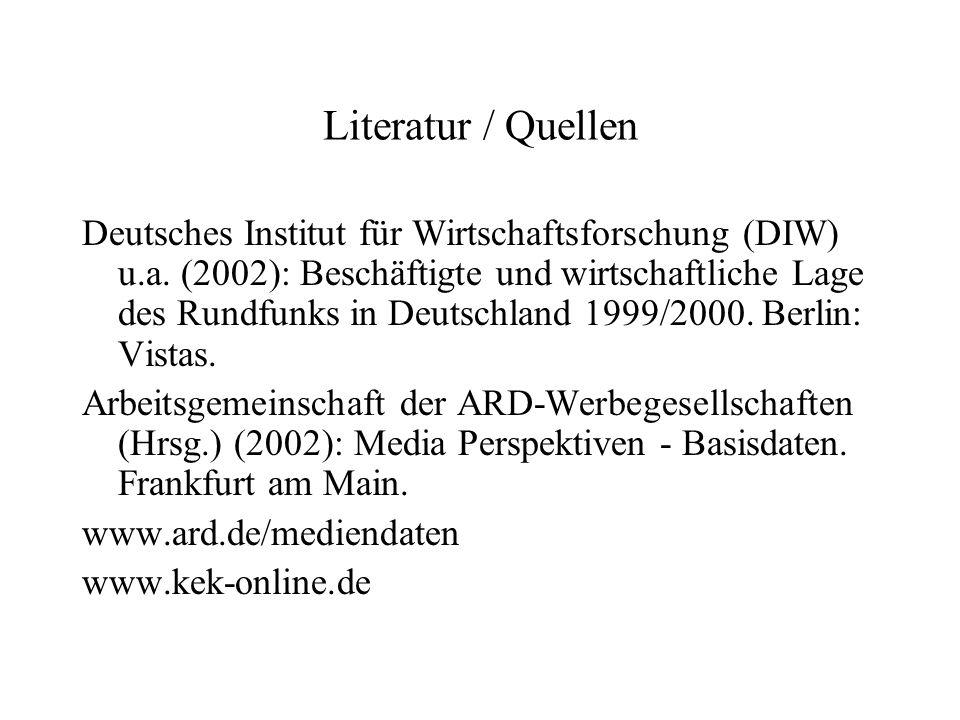 Literatur / Quellen