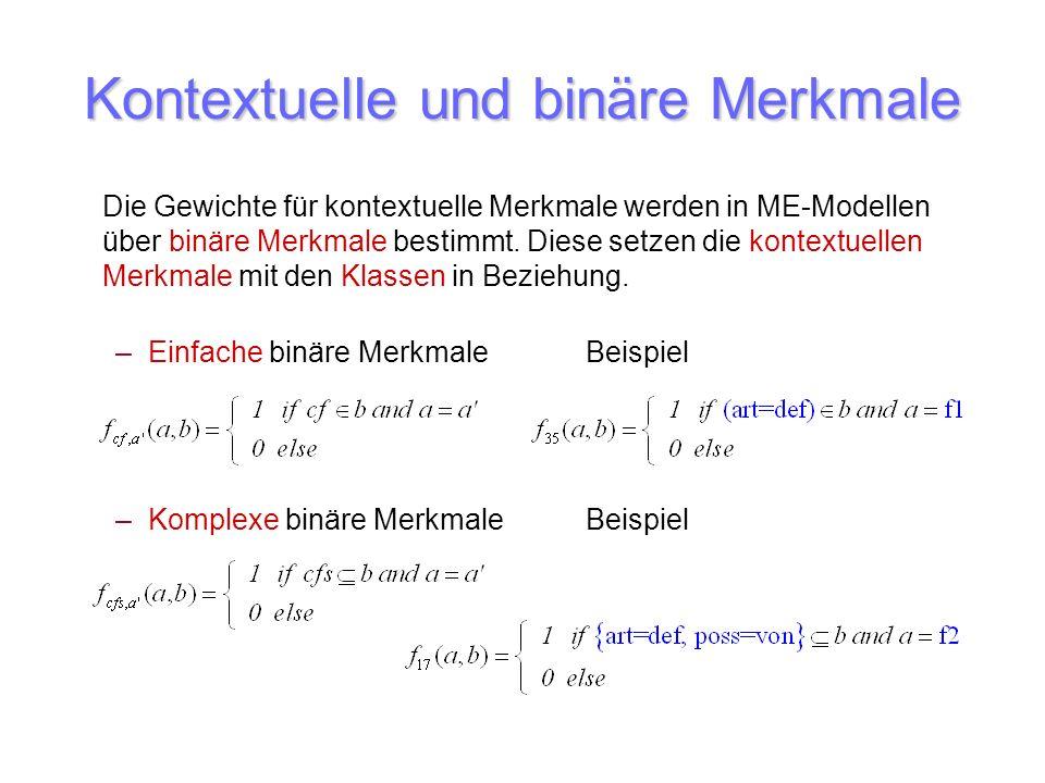 Kontextuelle und binäre Merkmale