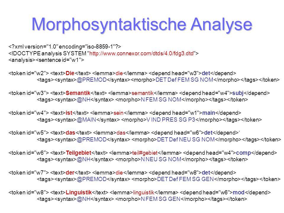 Morphosyntaktische Analyse