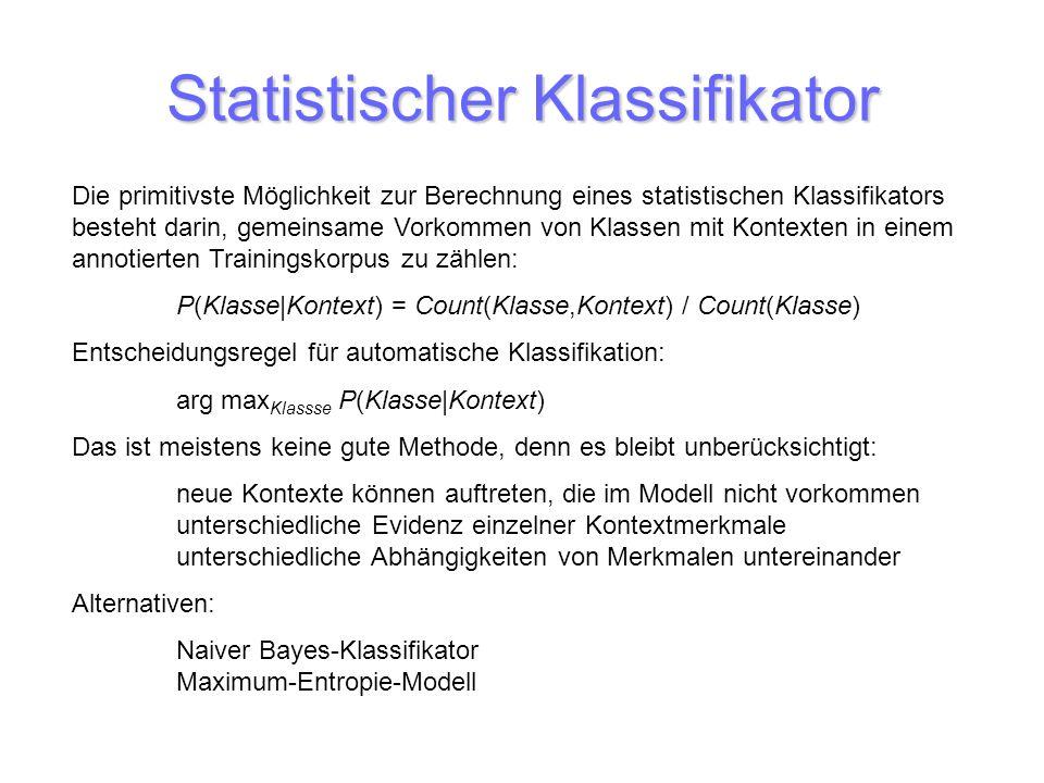 Statistischer Klassifikator