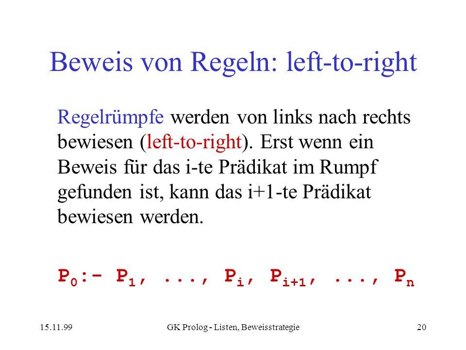 Beweis von Regeln: left-to-right