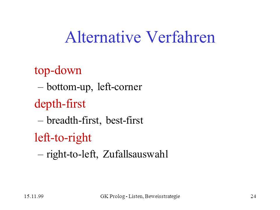 Alternative Verfahren