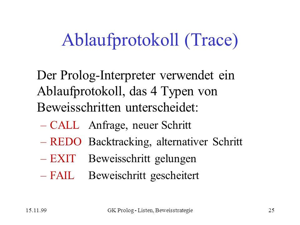 Ablaufprotokoll (Trace)