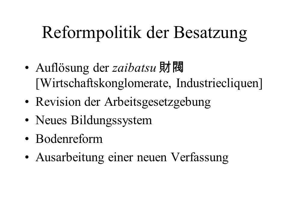 Reformpolitik der Besatzung