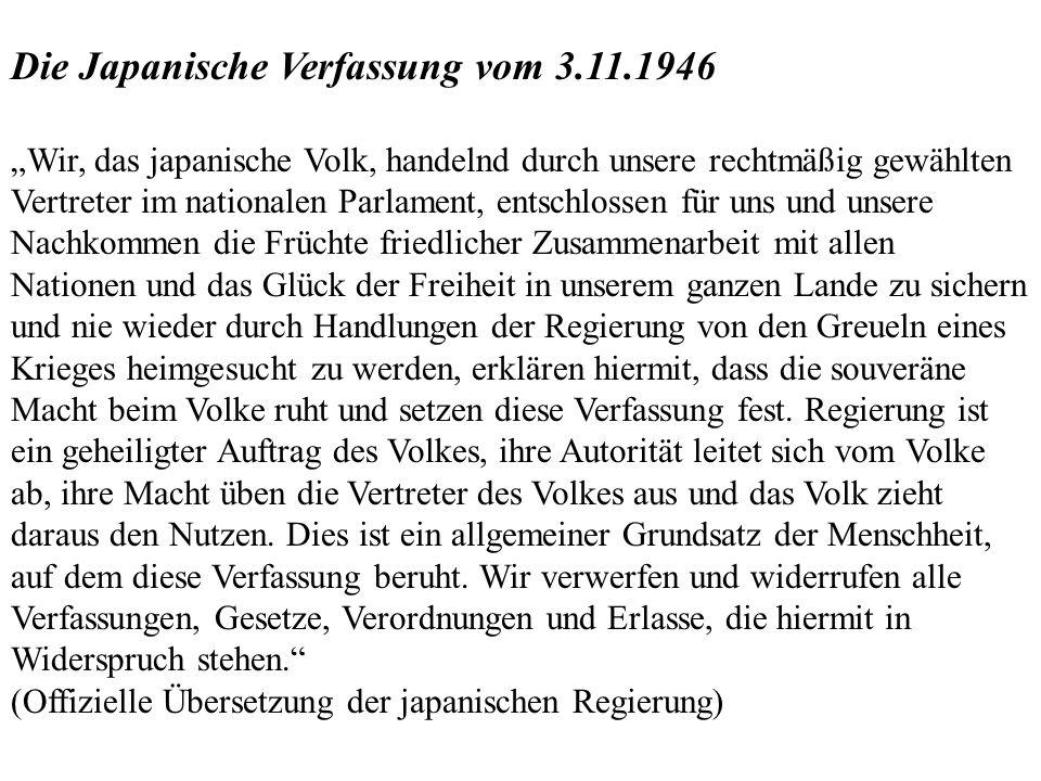Die Japanische Verfassung vom 3.11.1946