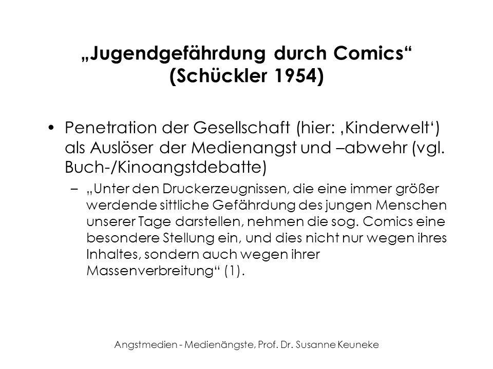 """""""Jugendgefährdung durch Comics (Schückler 1954)"""
