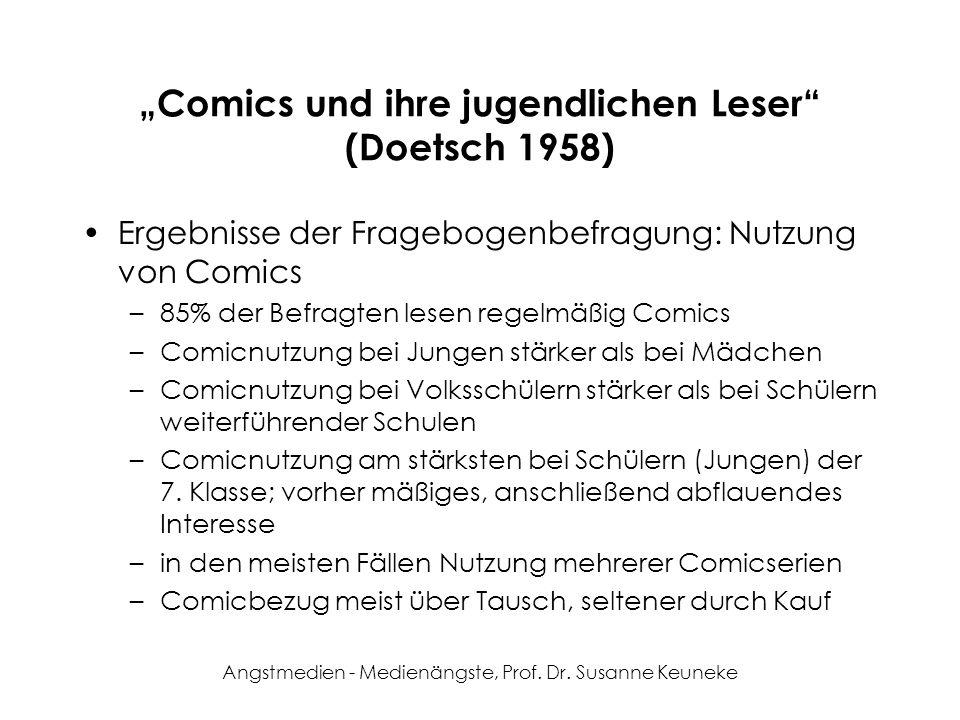 """""""Comics und ihre jugendlichen Leser (Doetsch 1958)"""
