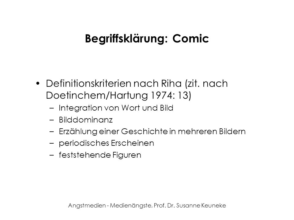 Begriffsklärung: Comic