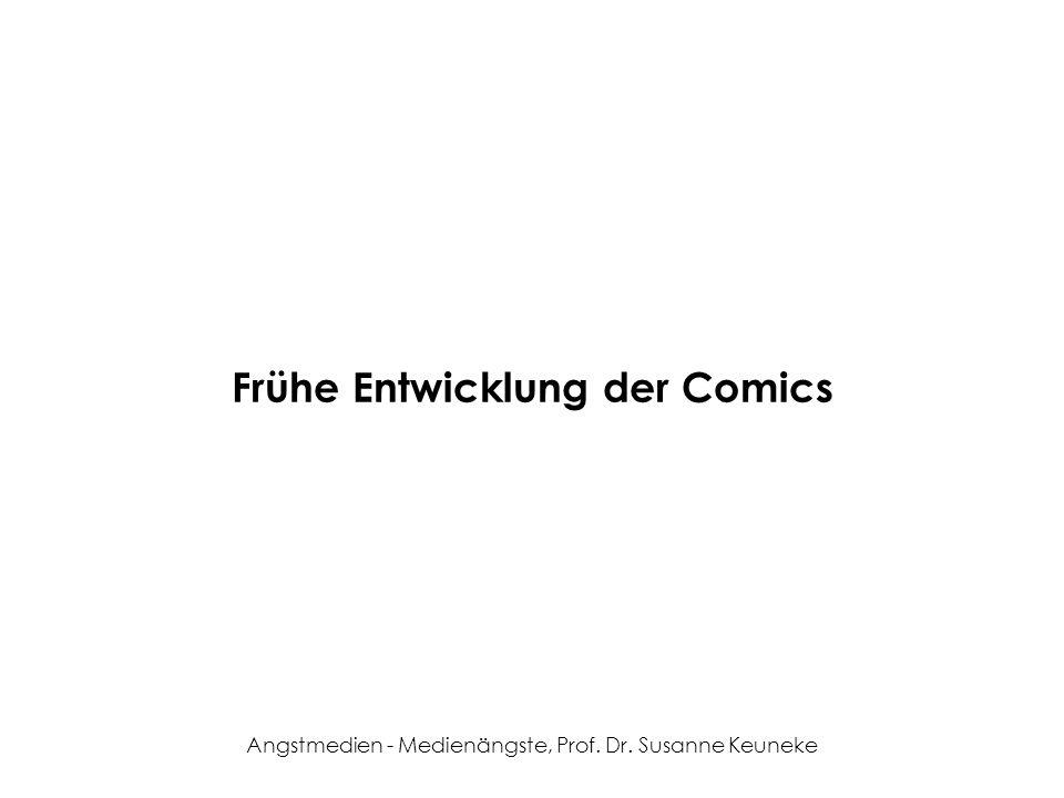 Frühe Entwicklung der Comics