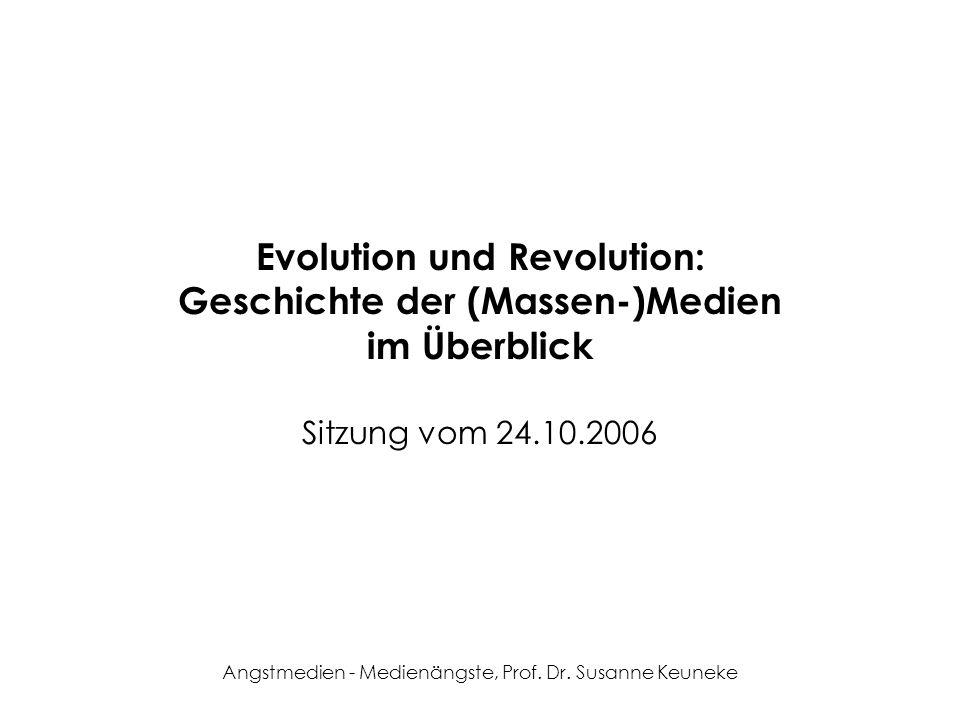 Evolution und Revolution: Geschichte der (Massen-)Medien im Überblick