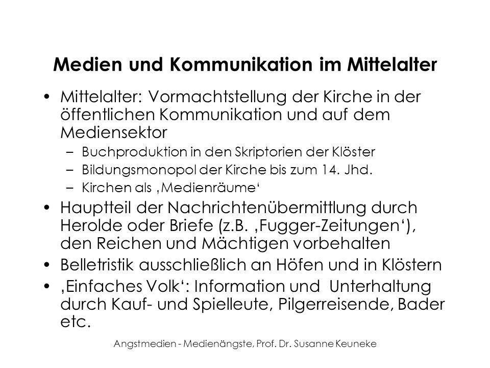 Medien und Kommunikation im Mittelalter