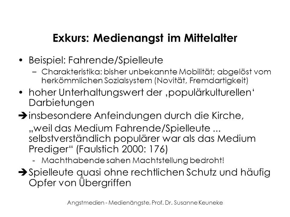 Exkurs: Medienangst im Mittelalter