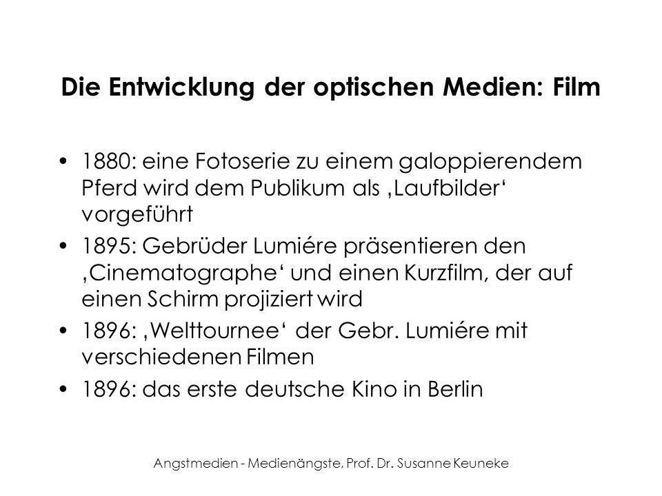 Die Entwicklung der optischen Medien: Film