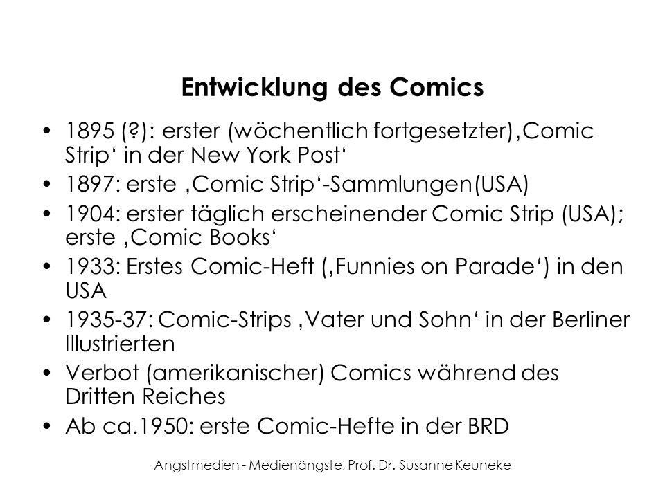 Entwicklung des Comics