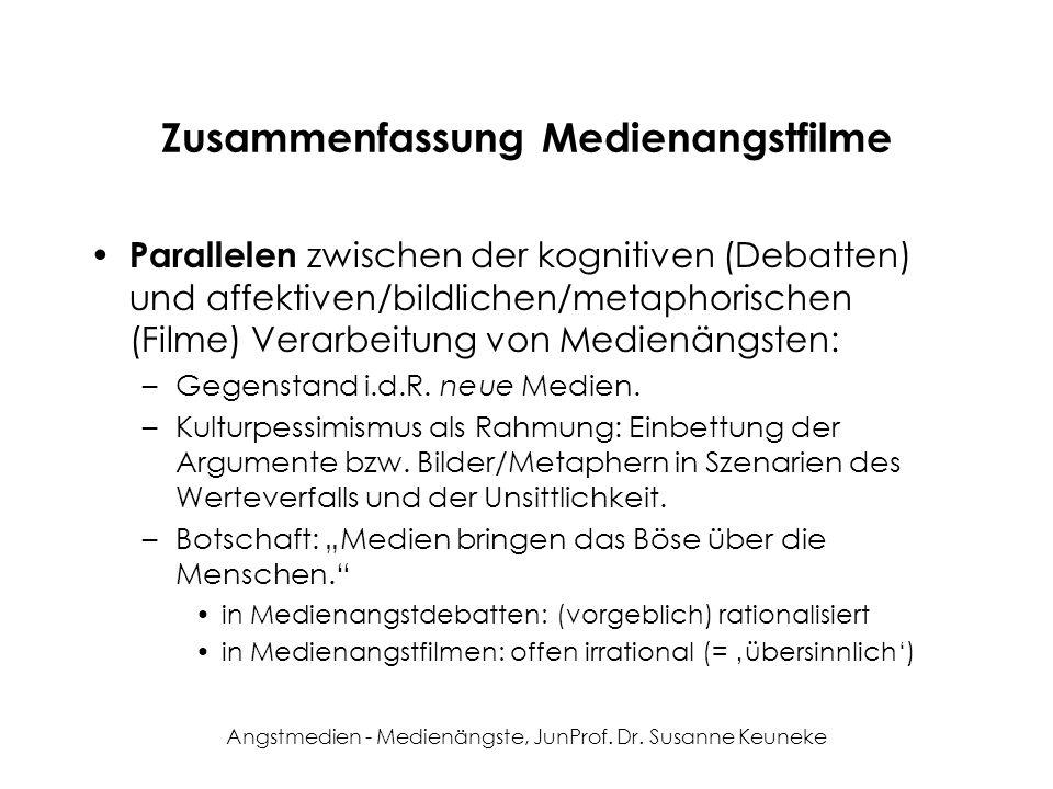 Zusammenfassung Medienangstfilme