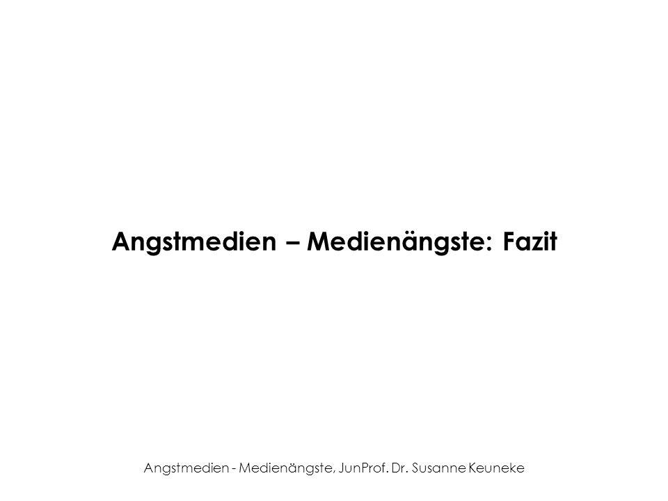 Angstmedien – Medienängste: Fazit