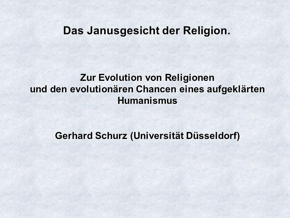 Das Janusgesicht der Religion.