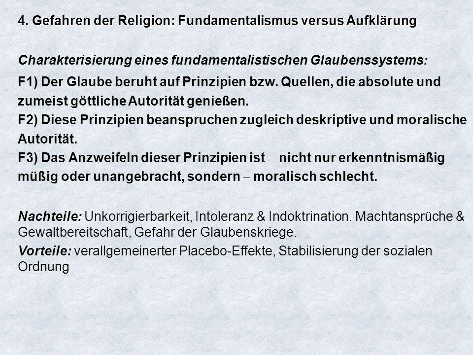 4. Gefahren der Religion: Fundamentalismus versus Aufklärung