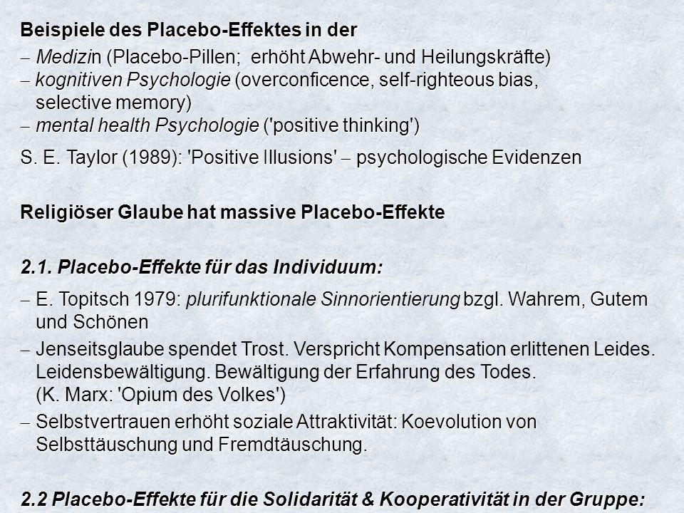 Beispiele des Placebo-Effektes in der
