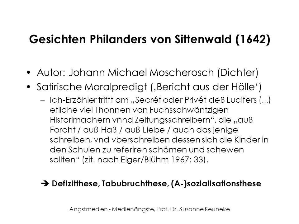 Gesichten Philanders von Sittenwald (1642)