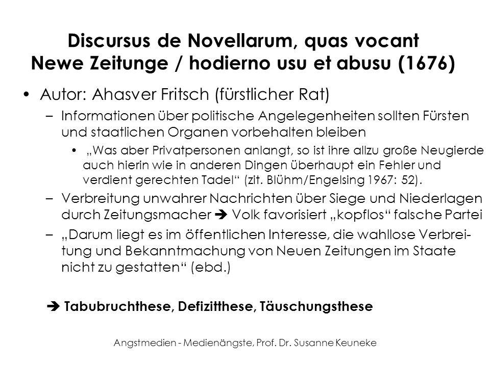 Angstmedien - Medienängste, Prof. Dr. Susanne Keuneke
