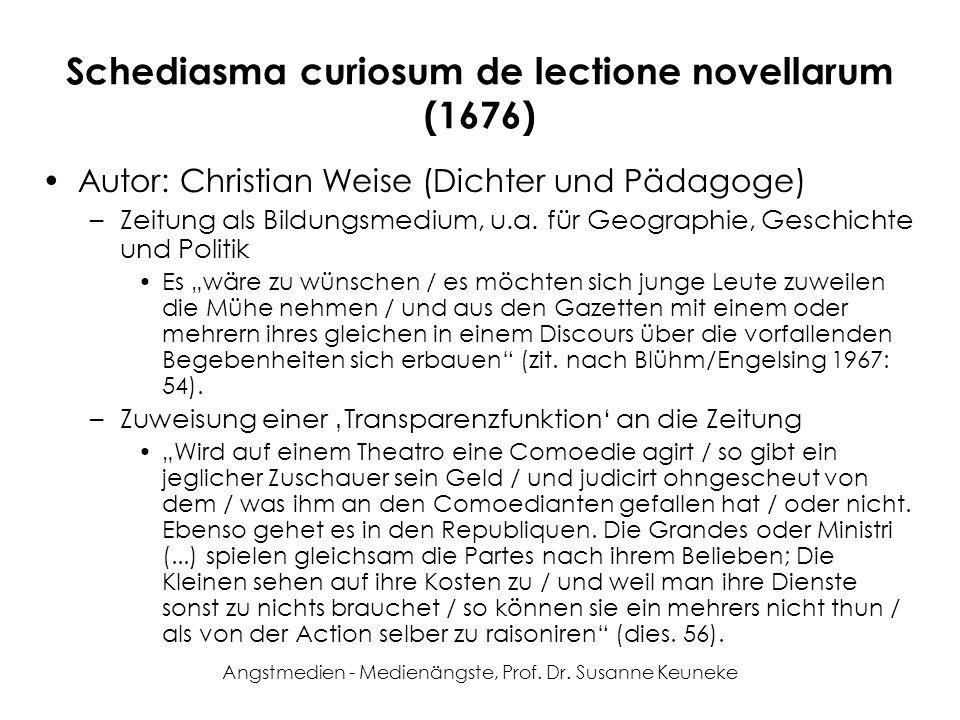 Schediasma curiosum de lectione novellarum (1676)