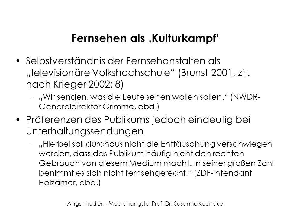 Fernsehen als 'Kulturkampf'