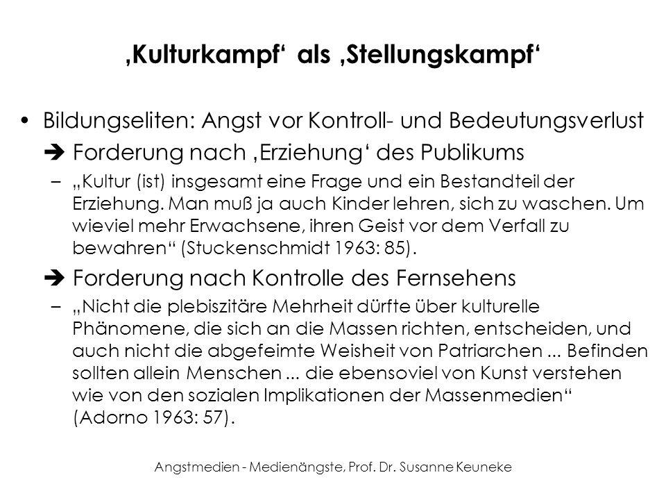 'Kulturkampf' als 'Stellungskampf'
