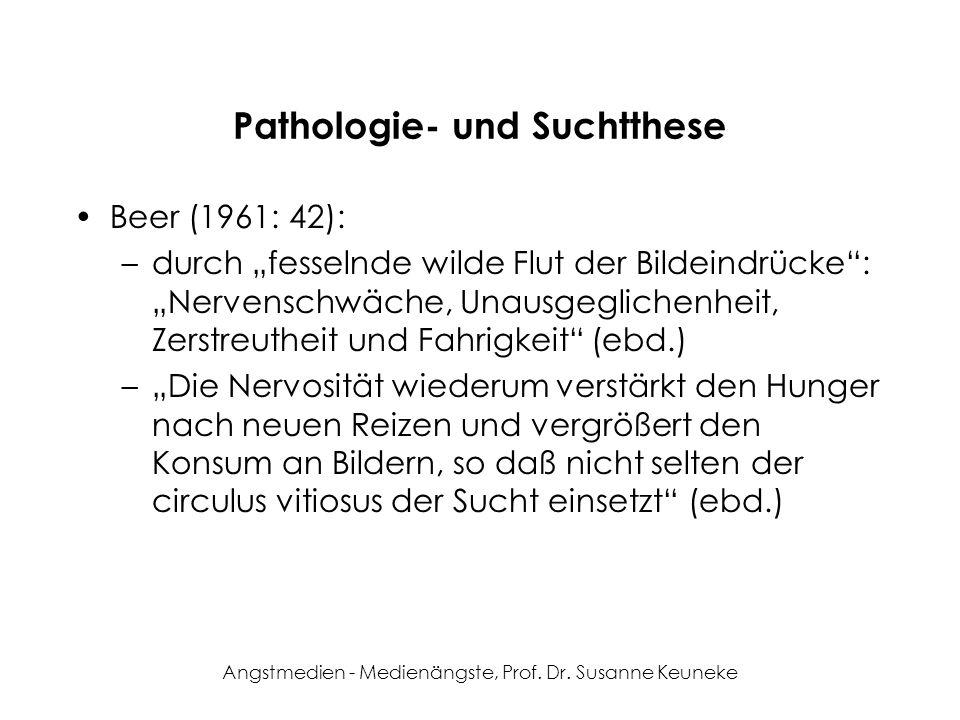 Pathologie- und Suchtthese