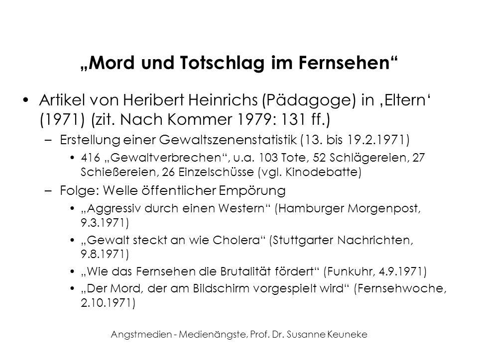 """""""Mord und Totschlag im Fernsehen"""