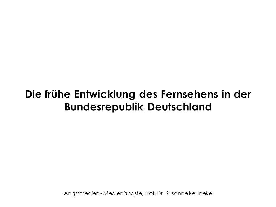 Die frühe Entwicklung des Fernsehens in der Bundesrepublik Deutschland