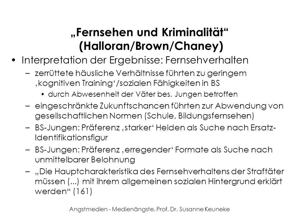 """""""Fernsehen und Kriminalität (Halloran/Brown/Chaney)"""
