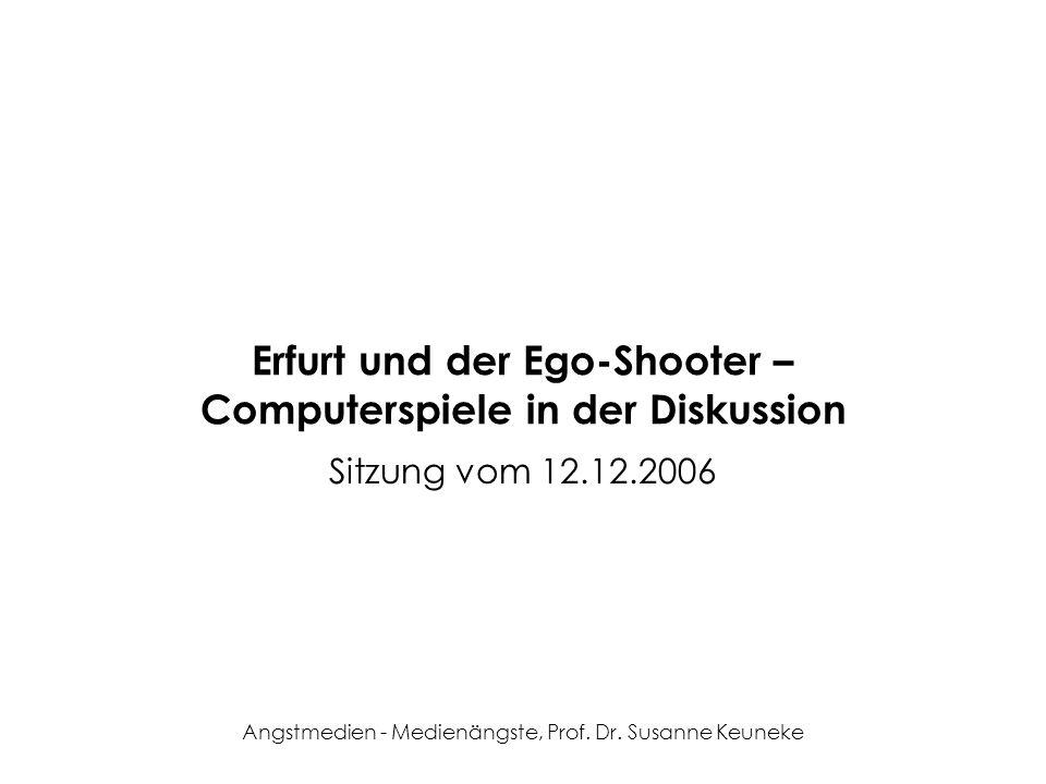 Erfurt und der Ego-Shooter – Computerspiele in der Diskussion
