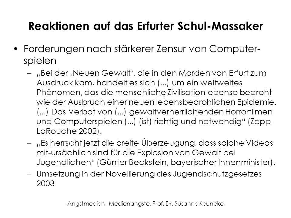 Reaktionen auf das Erfurter Schul-Massaker