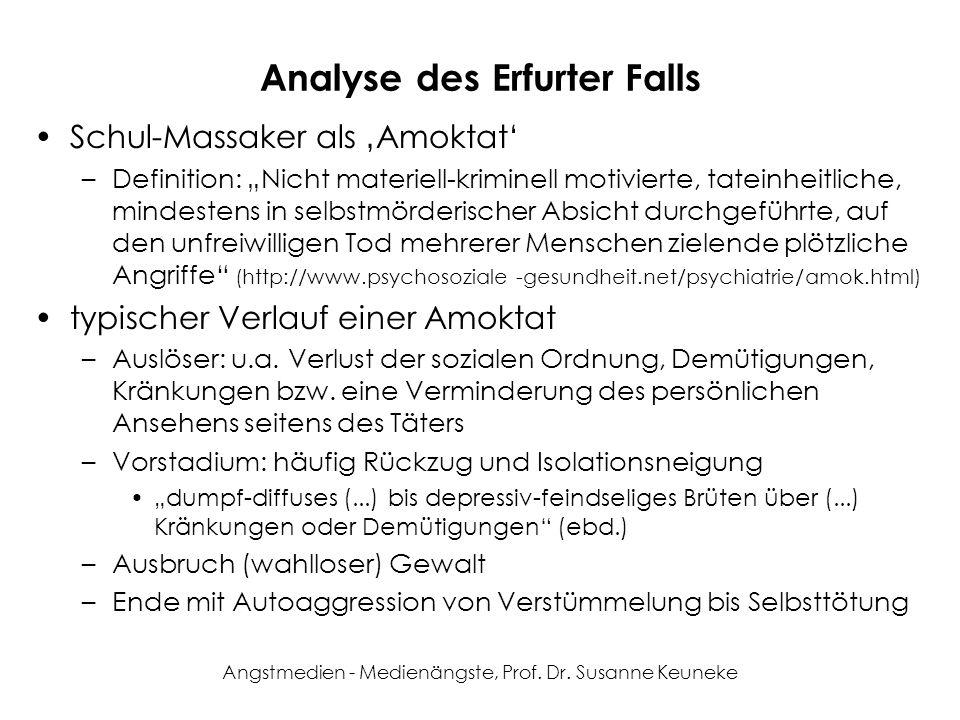 Analyse des Erfurter Falls