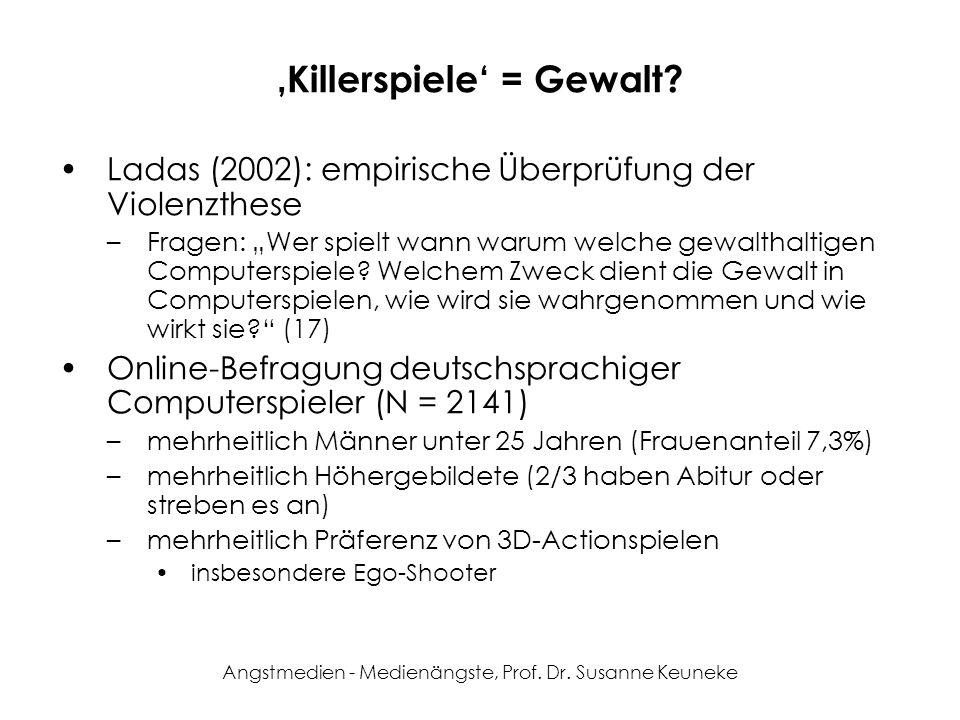 'Killerspiele' = Gewalt