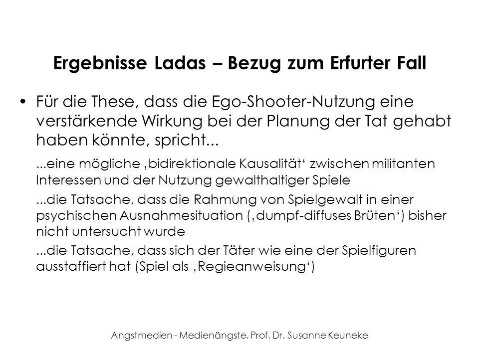 Ergebnisse Ladas – Bezug zum Erfurter Fall